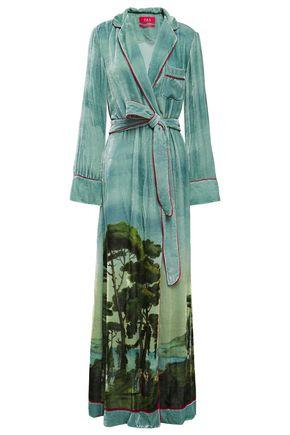F.R.S. FOR RESTLESS SLEEPERS Roda printed velvet robe