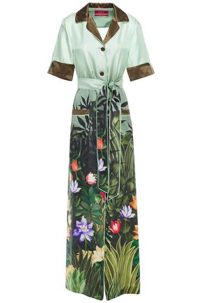 F.R.S. FOR RESTLESS SLEEPERS Lelantos printed silk-satin twill maxi shirt dress