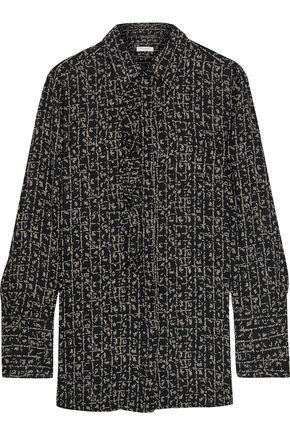 EQUIPMENT Appoline ruffle-trimmed printed crepe de chine shirt