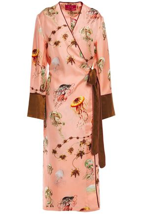 F.R.S. FOR RESTLESS SLEEPERS Dolos printed silk-twill midi wrap dress
