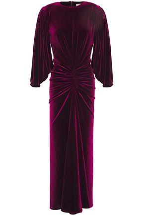 ALEXANDRE VAUTHIER Gathered velvet midi dress