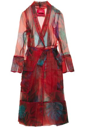 F.R.S. FOR RESTLESS SLEEPERS Rodo printed organza midi wrap dress