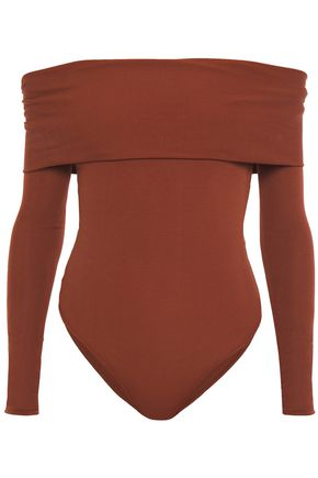 ALEXANDRE VAUTHIER Off-the-shoulder twisted stretch-jersey bodysuit