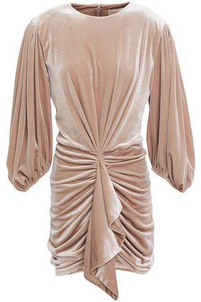 ALEXANDRE VAUTHIER Draped ruched stretch-velvet mini dress