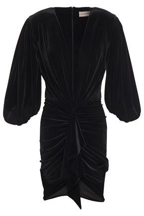 ALEXANDRE VAUTHIER Gathered velvet mini dress