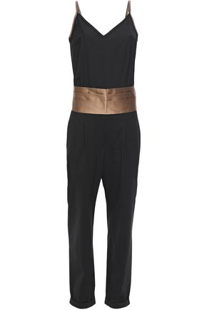 BRUNELLO CUCINELLI Bead-embellished silk-blend jumpsuit