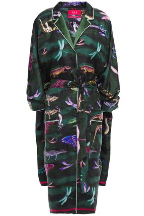 F.R.S. FOR RESTLESS SLEEPERS Anteros asymmetric printed silk-twill dress