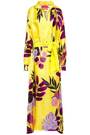 F.R.S. FOR RESTLESS SLEEPERS Printed satin-jacquard maxi dress