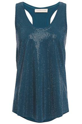 ALEXANDRE VAUTHIER Crystal-embellished stretch-cotton jersey tank