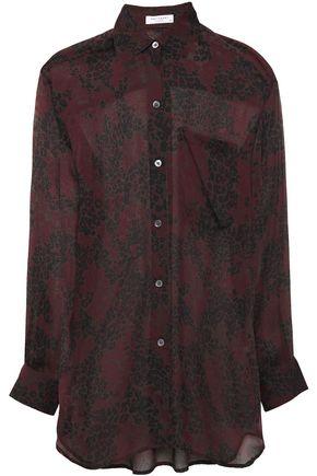 EQUIPMENT Daddy leopard-print silk-chiffon shirt