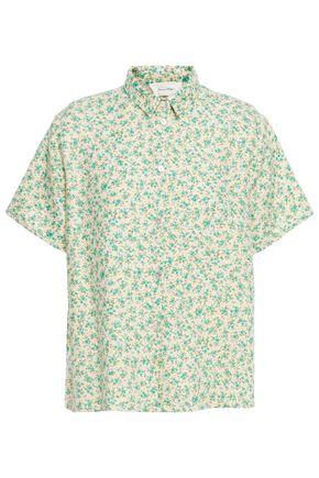 """AMERICAN VINTAGE قميص """"كوناتاتا"""" من التويل المصنوع من مزيج الكتان المطبع بالورود"""