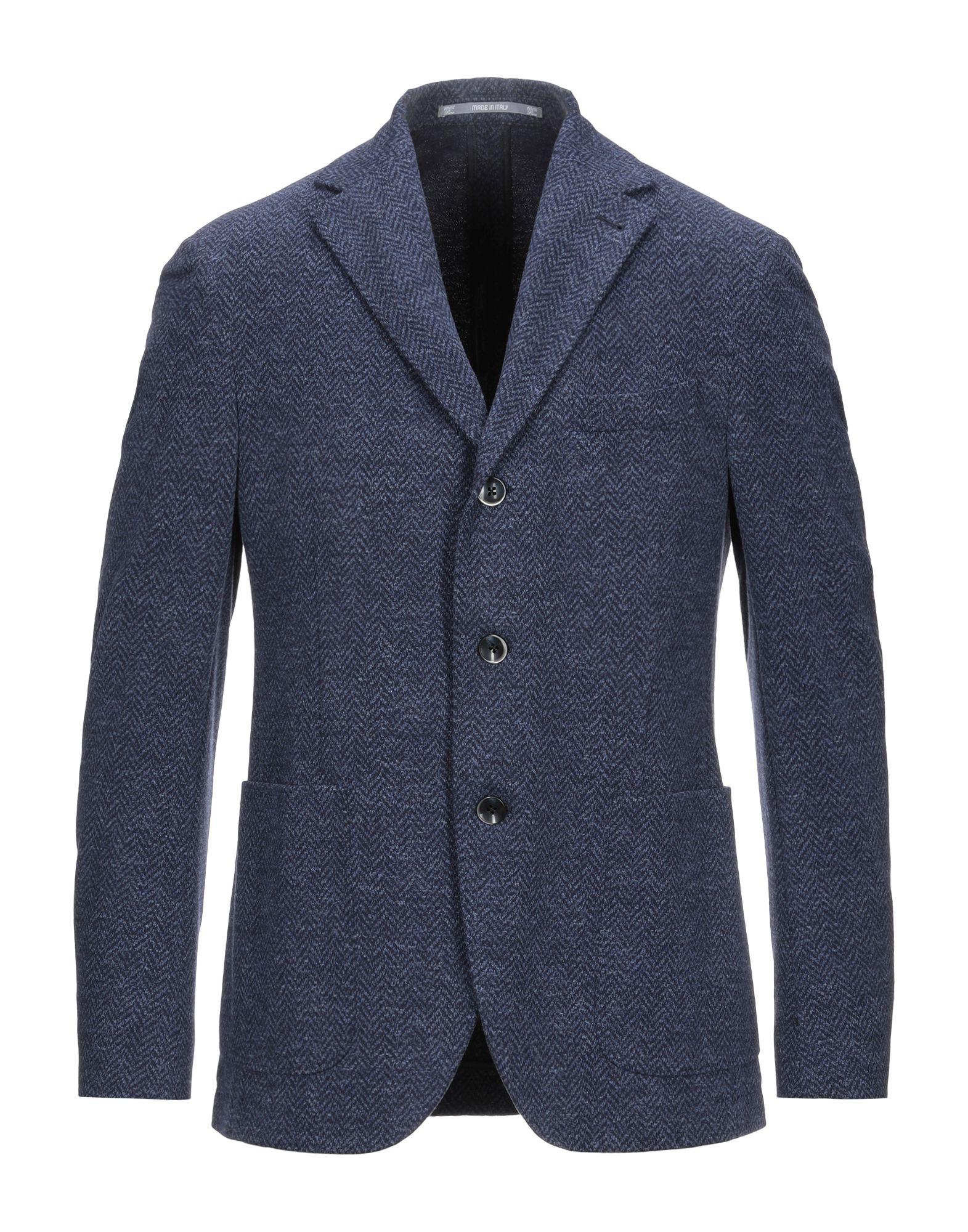 《セール開催中》CANTARELLI JERSEY PLANET メンズ テーラードジャケット ブルーグレー 50 コットン 89% / ナイロン 9% / ポリウレタン 2%