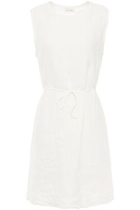 AMERICAN VINTAGE فستان قصير من الكتان مزوّد بحزام
