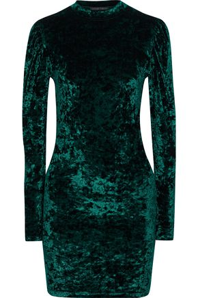 CAROLINE CONSTAS Lulu crushed-velvet mini dress