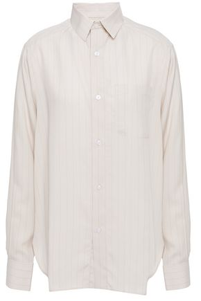 EACH X OTHER Printed pinstriped woven shirt