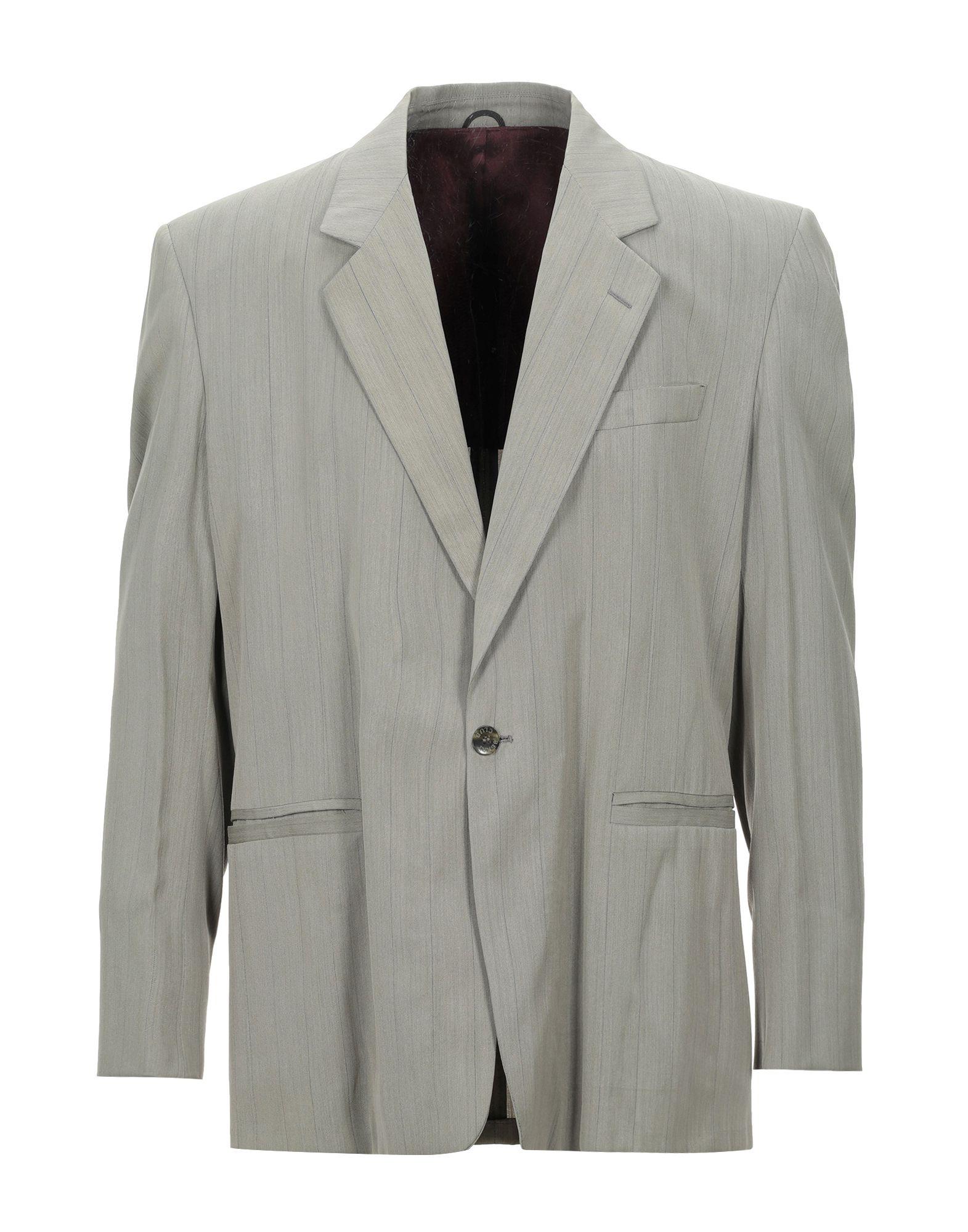 《セール開催中》BERRY London メンズ テーラードジャケット グレー 50 ウール 60% / レーヨン 40%