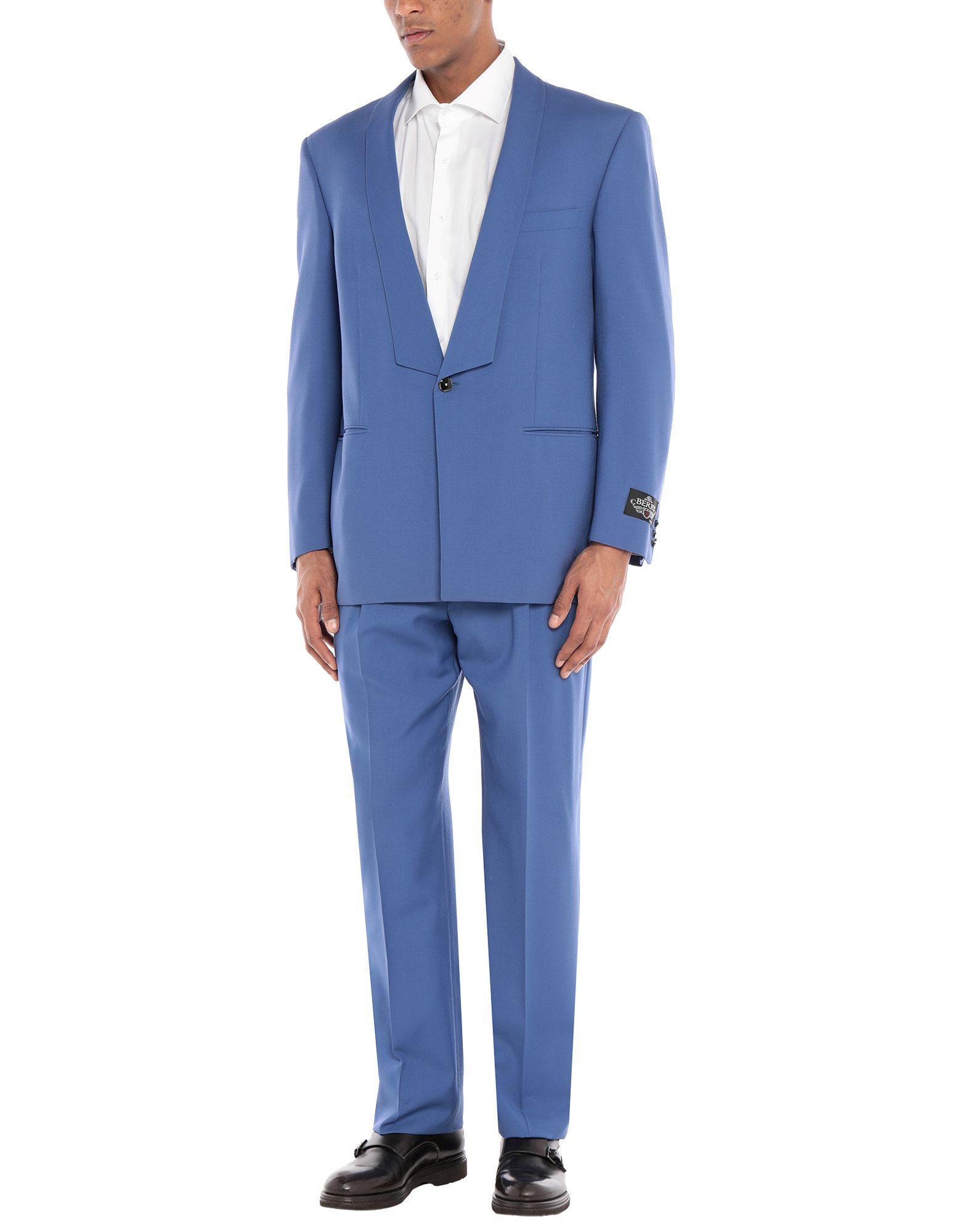 《セール開催中》BERRY London メンズ スーツ パステルブルー 50 ウール 100%