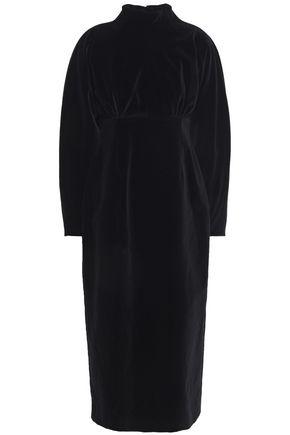 EMILIA WICKSTEAD Claudette cutout velvet midi dress