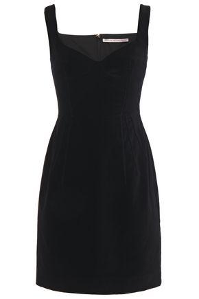 EMILIA WICKSTEAD Judita pintucked cotton-velvet mini dress