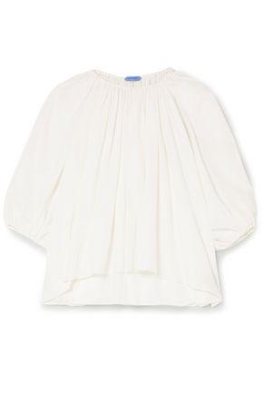 MUGLER Asymmetric chiffon blouse