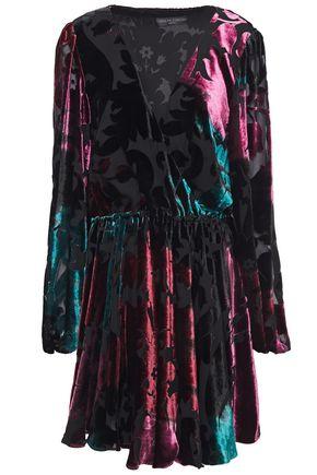 CAROLINE CONSTAS Olena devoré-velvet dress