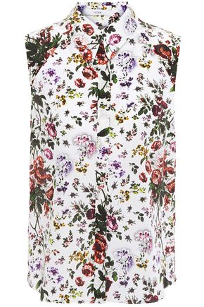 ERDEM Anya floral-print silk crepe de chine top