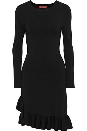 ALTUZARRA Mikey asymmetric ruffle-trimmed stretch-knit dress