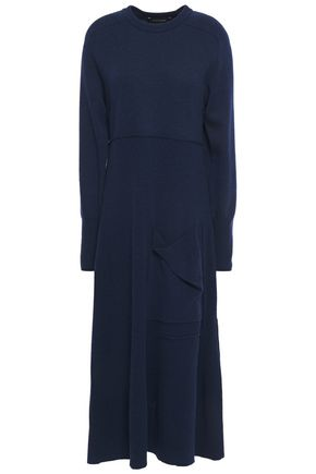 CEDRIC CHARLIER Ribbed wool midi dress