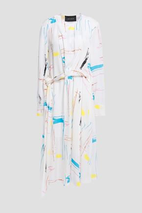 CEDRIC CHARLIER Twisted printed crepe dress