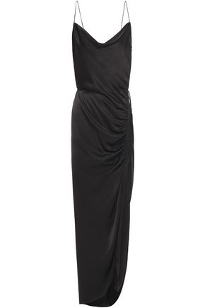 Veronica Beard Woman Ruched Satin-crepe Gown Black Size 2