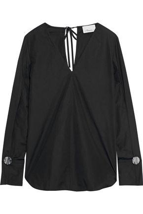 3.1 PHILLIP LIM Button-embellished cotton-poplin top