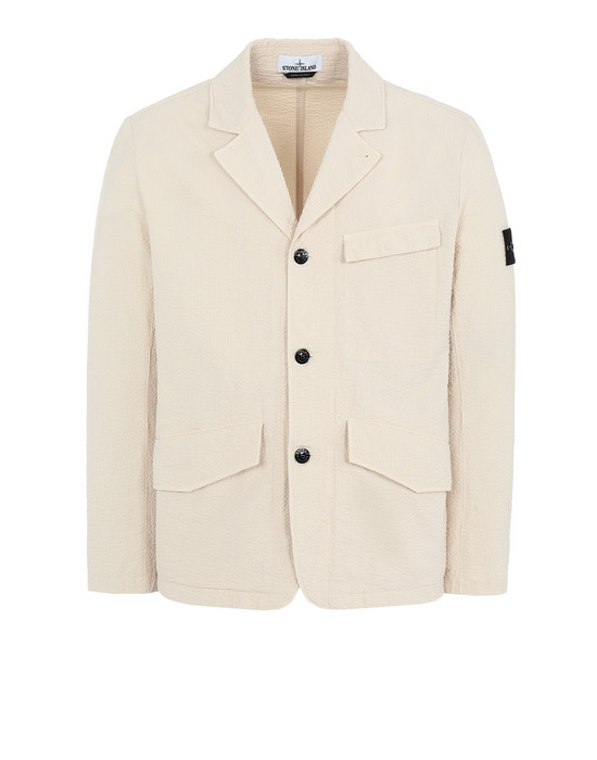 STONE ISLAND 80141 SEERSUCKER CO-TC Suit Man Beige