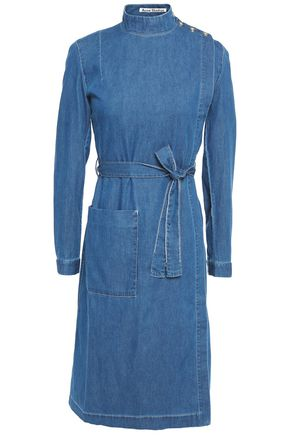 ACNE STUDIOS Belted cotton-chambray dress