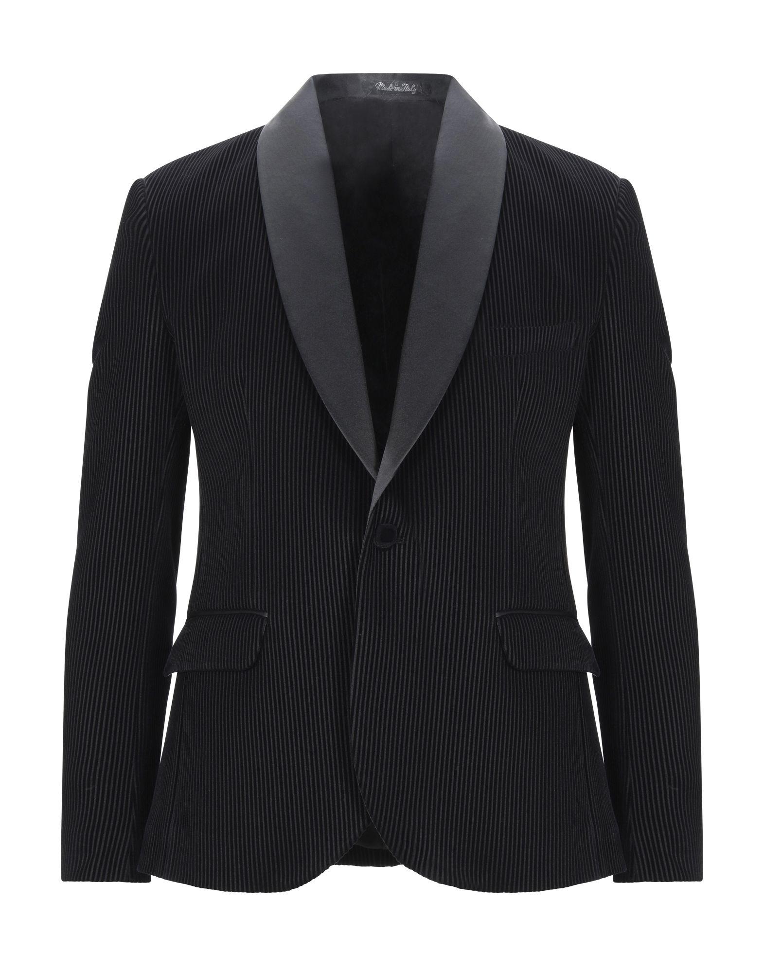 《セール開催中》TAKESHY KUROSAWA メンズ テーラードジャケット ブラック 44 ポリエステル 95% / ポリウレタン 5%