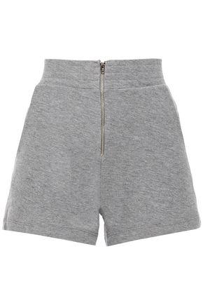 ENZA COSTA Mélange cotton and cashmere-blend shorts