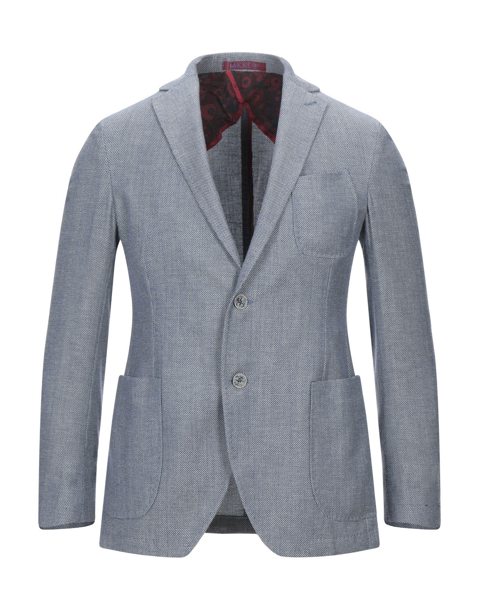 《セール開催中》MAISON BRAVE メンズ テーラードジャケット ブルー 46 ウール 52% / コットン 38% / リネン 10%