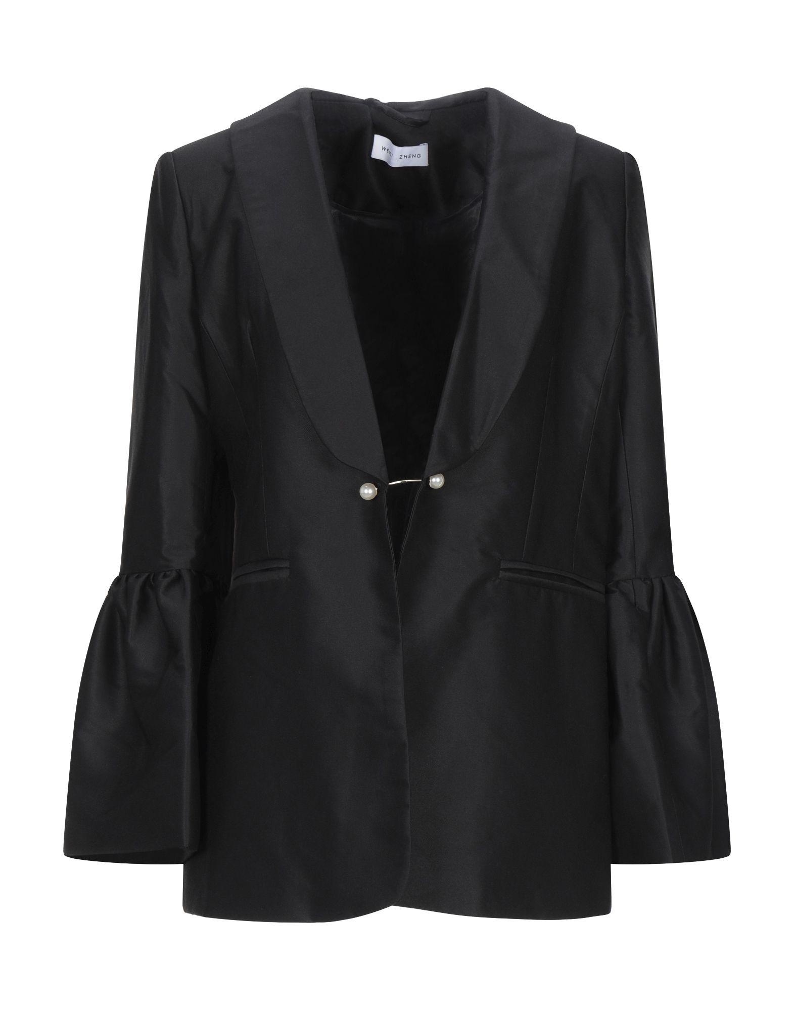《セール開催中》WEILI ZHENG レディース テーラードジャケット ブラック S ポリエステル 100%