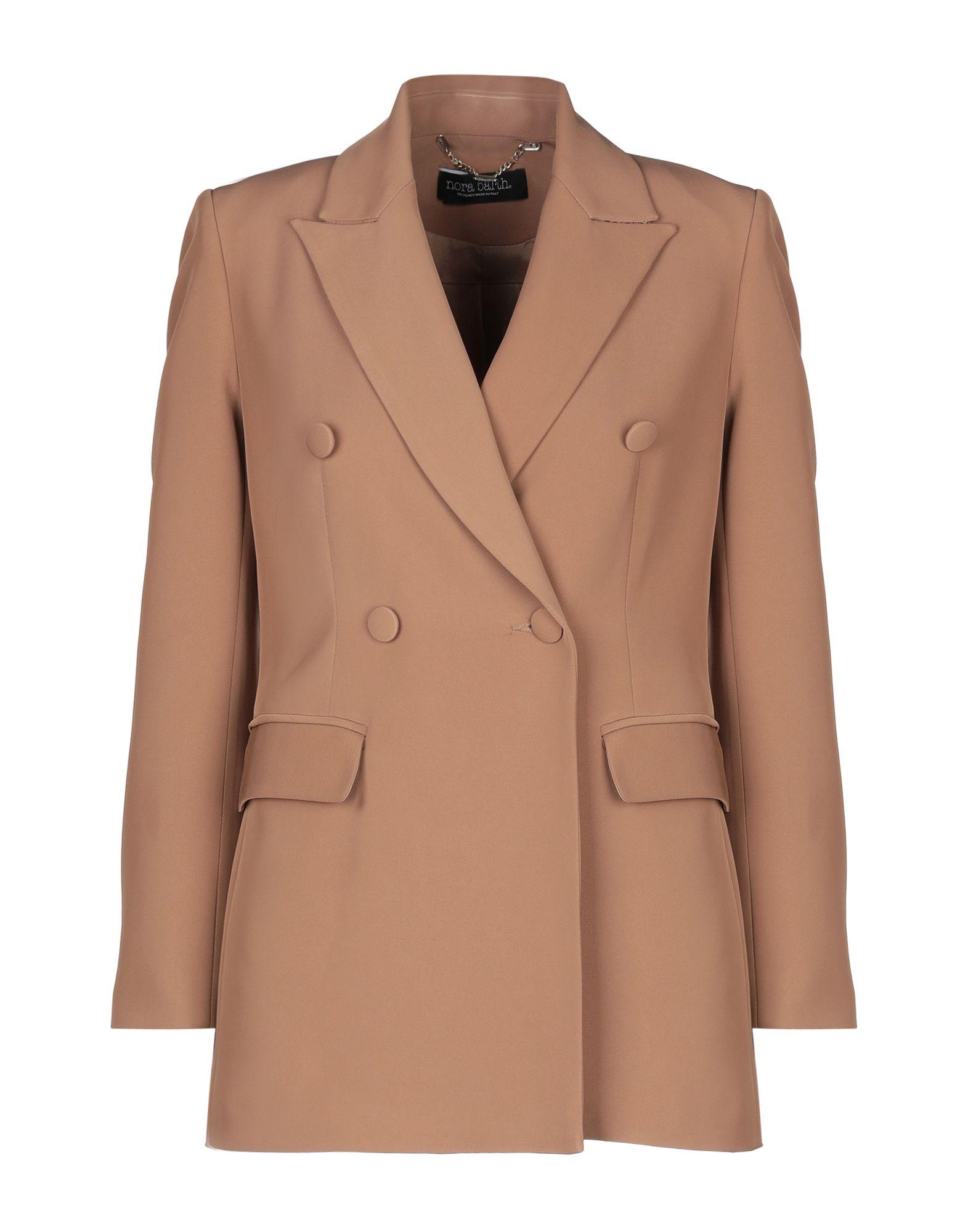 《セール開催中》NORA BARTH レディース テーラードジャケット キャメル 40 ポリエステル 92% / ナイロン 8%