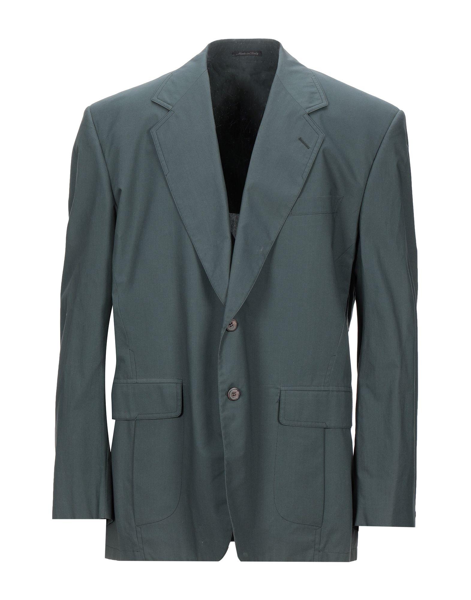 《セール開催中》BERRY CLUB メンズ テーラードジャケット ダークグリーン 54 コットン 100%