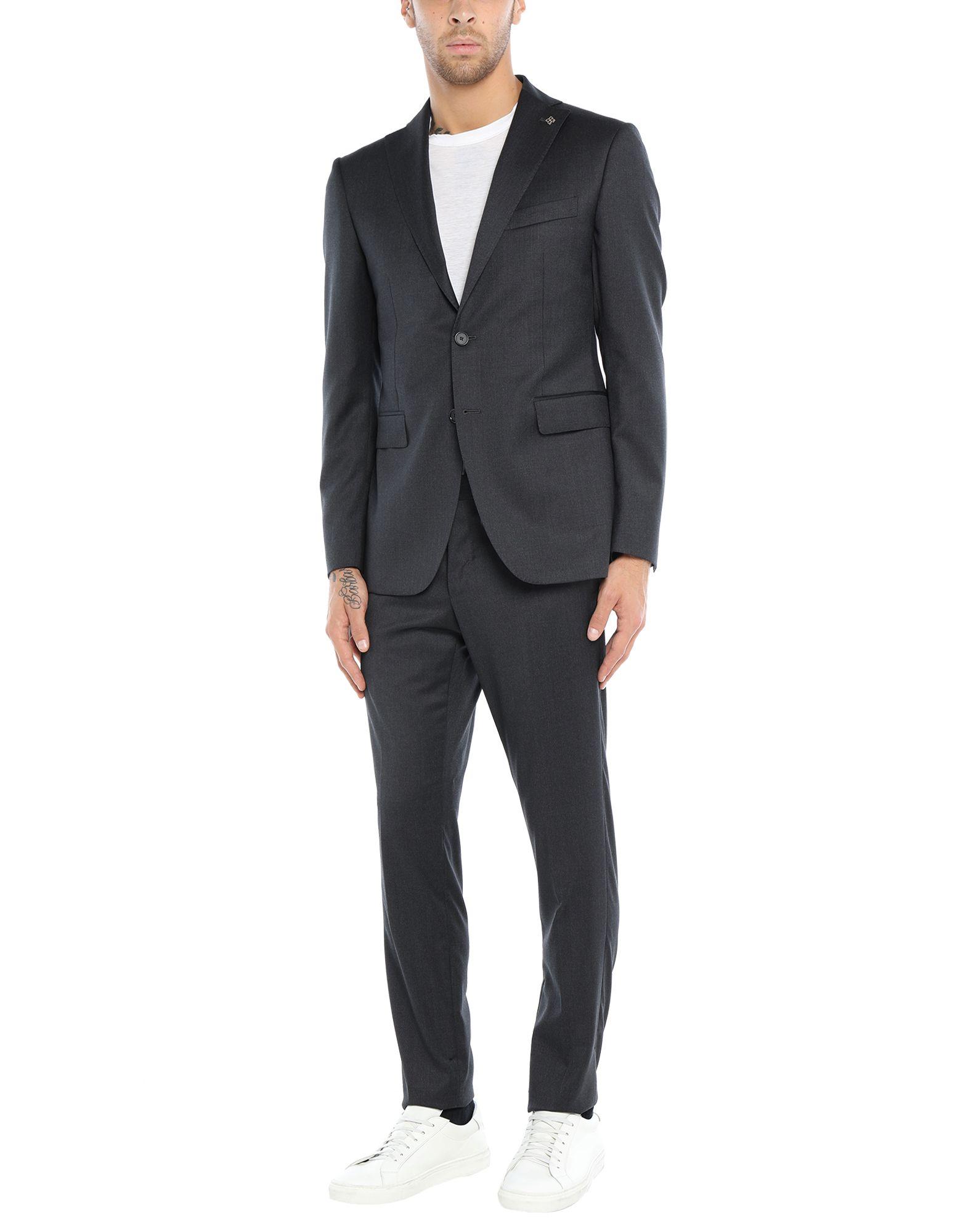 《セール開催中》TAGLIATORE メンズ スーツ スチールグレー 46 スーパー110 ウール 100%