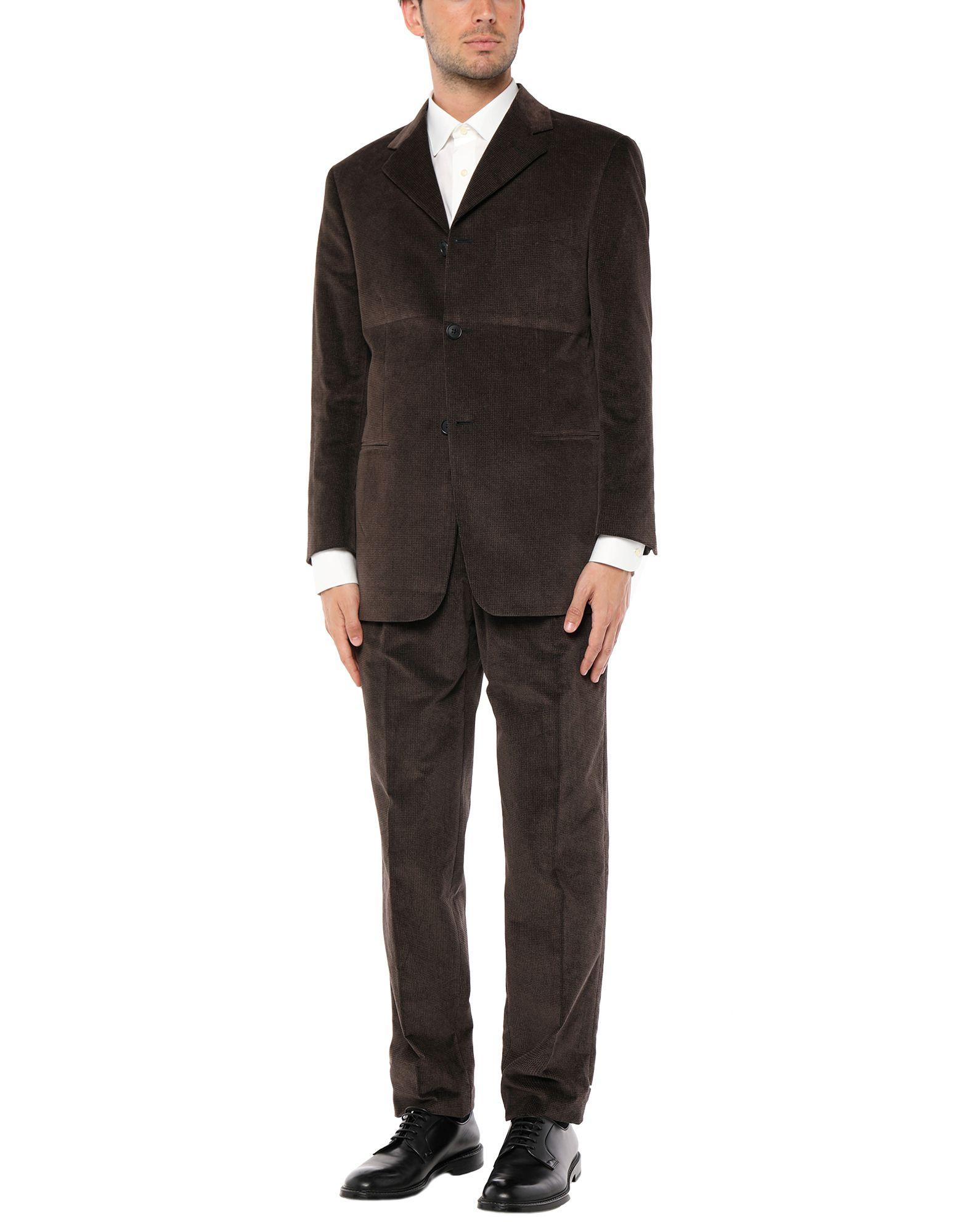 《セール開催中》PULL PAL ZILERI メンズ スーツ ブラウン 48 コットン 100%