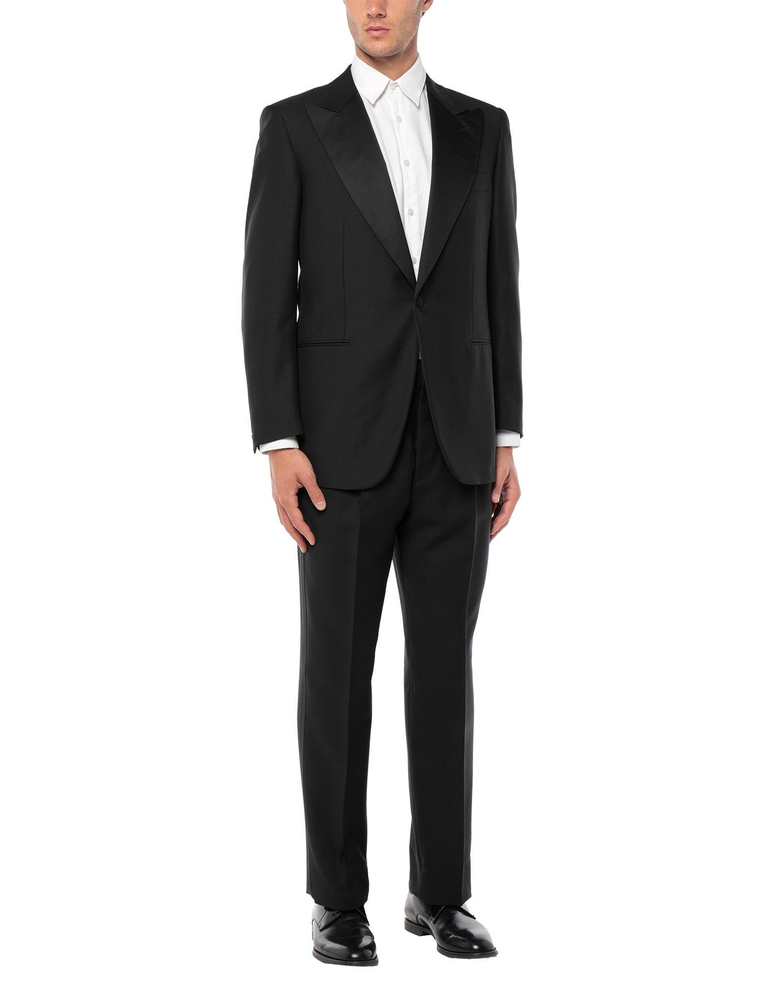 《セール開催中》A. GI. EMME メンズ スーツ ブラック 52 ウール 100%