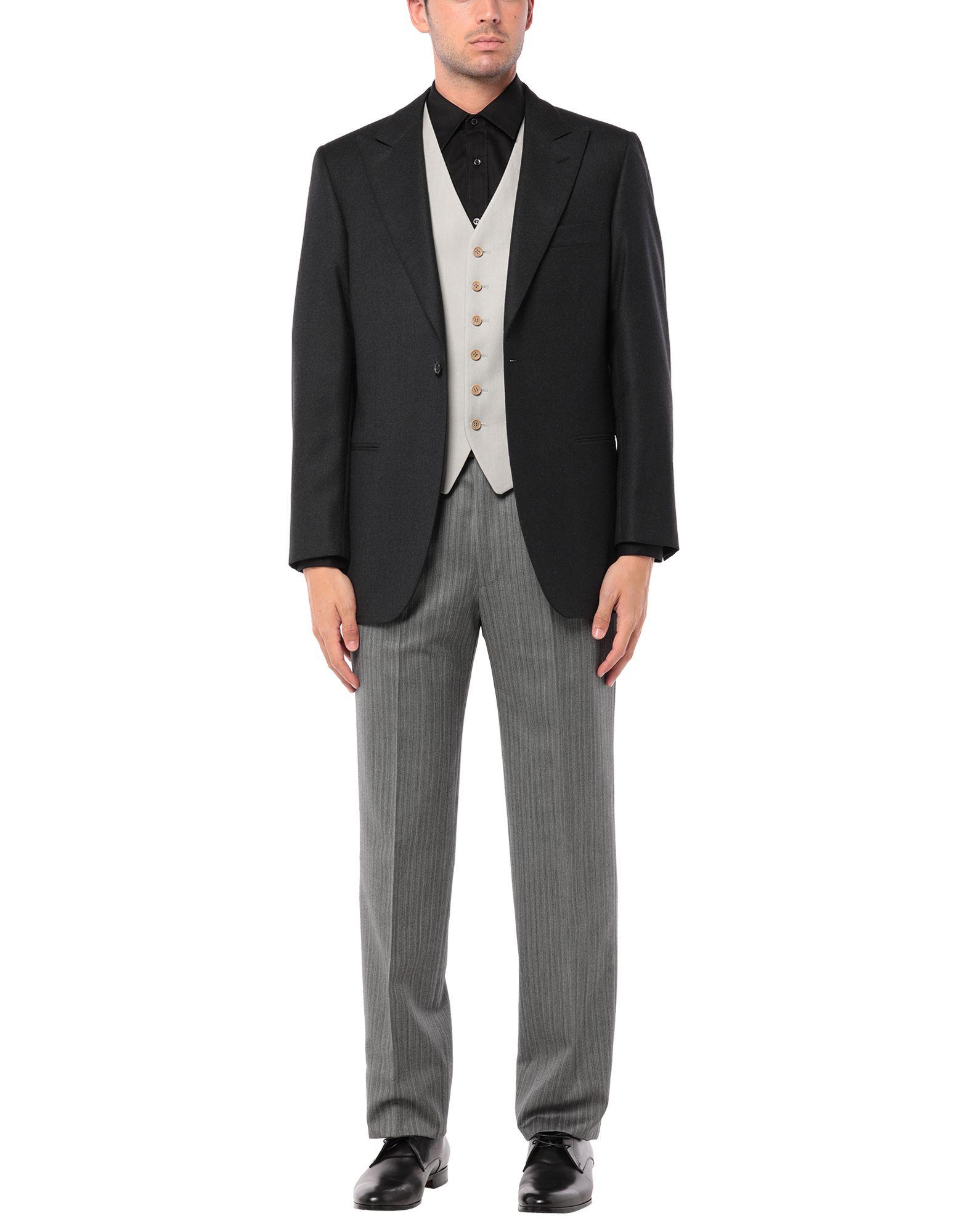 《セール開催中》A. GI. EMME メンズ スーツ ブラック 48 ウール 100%