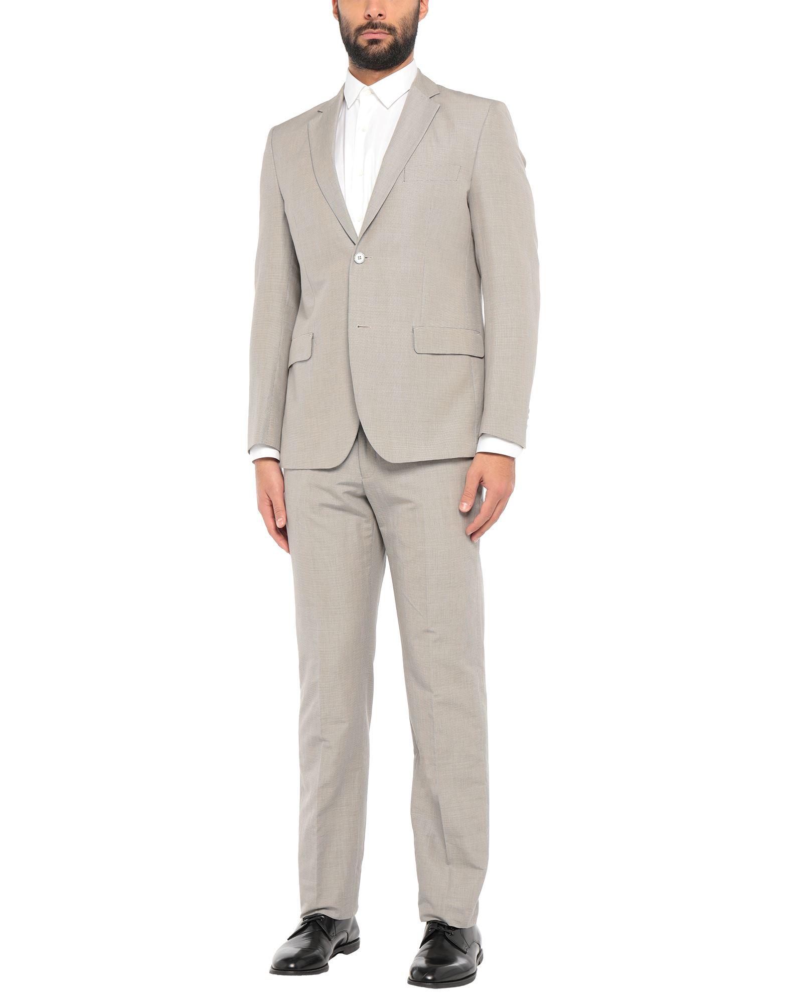 《セール開催中》BERRY & BRIAN メンズ スーツ ライトグレー 54 ラミー 55% / コットン 45%