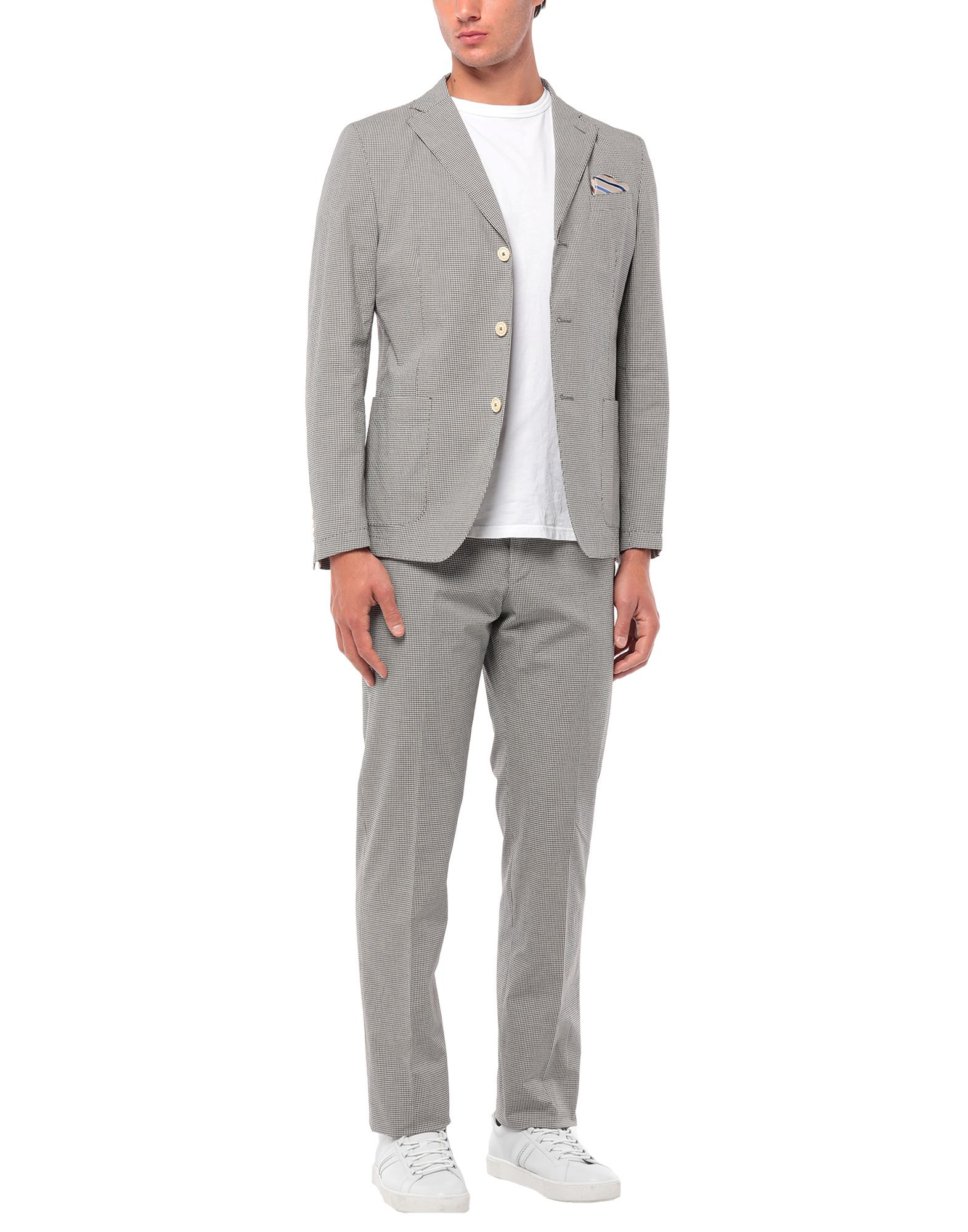 《セール開催中》BERRY & BRIAN メンズ スーツ ダークブラウン 46 コットン 98% / ポリウレタン 2%