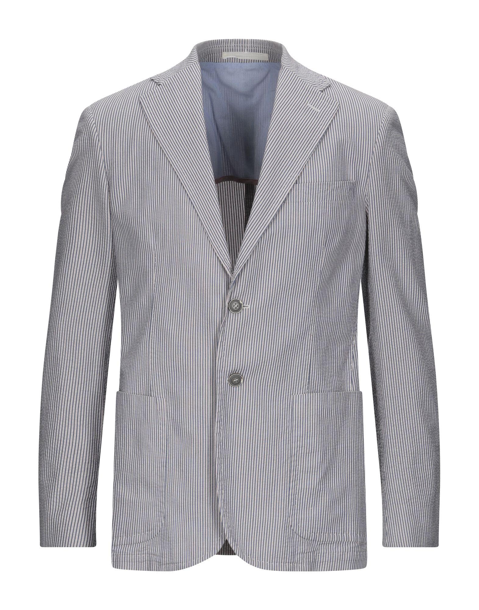 《セール開催中》BERRY & BRIAN メンズ テーラードジャケット ブルー 48 コットン 100%