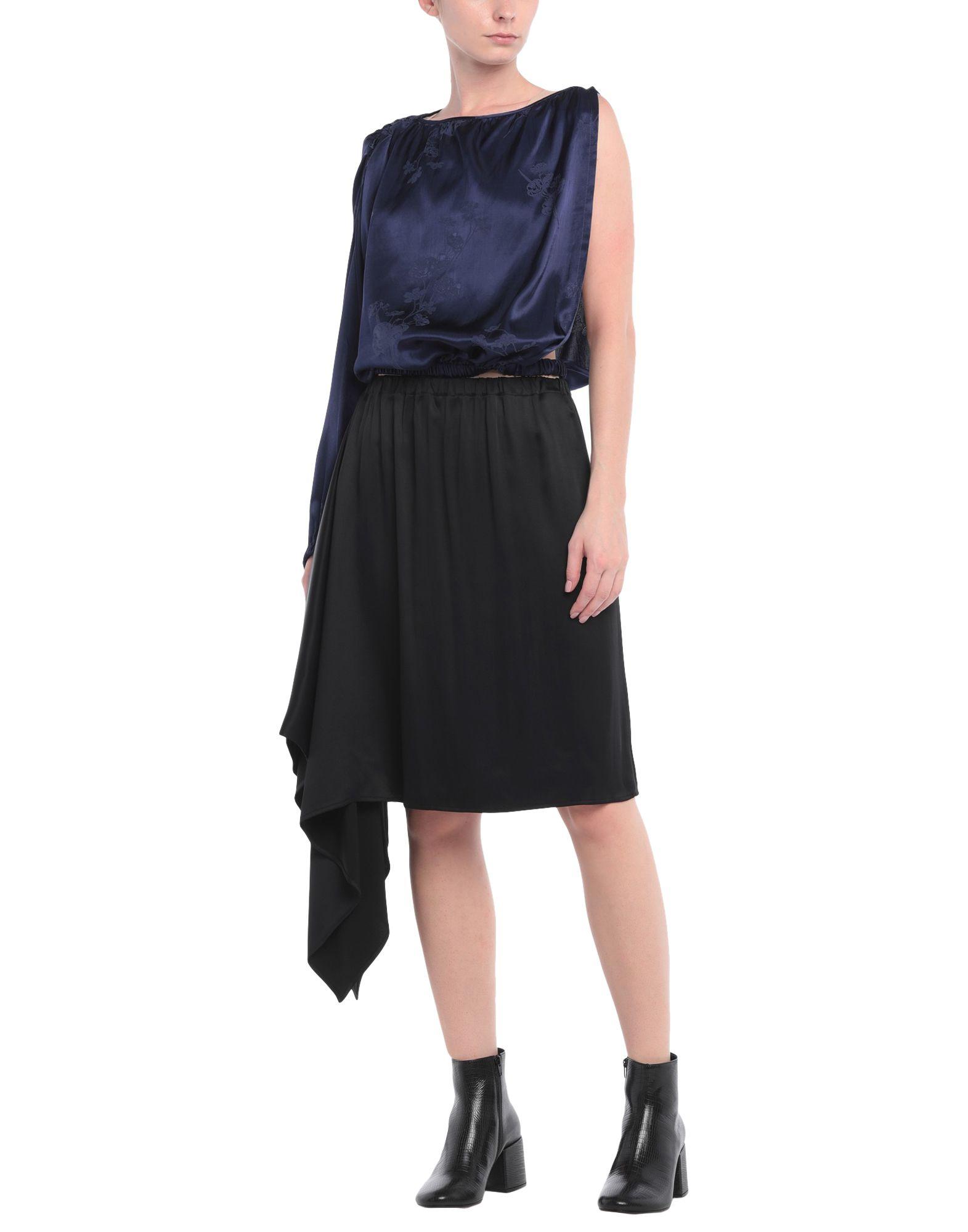 MM6 MAISON MARGIELA Sets. crepe, satin, no appliqués, two-tone, no pockets, wide neckline, sleeveless, 3-piece set, single-breasted, unlined. 100% Viscose, Cotton, Polyamide, Elastane