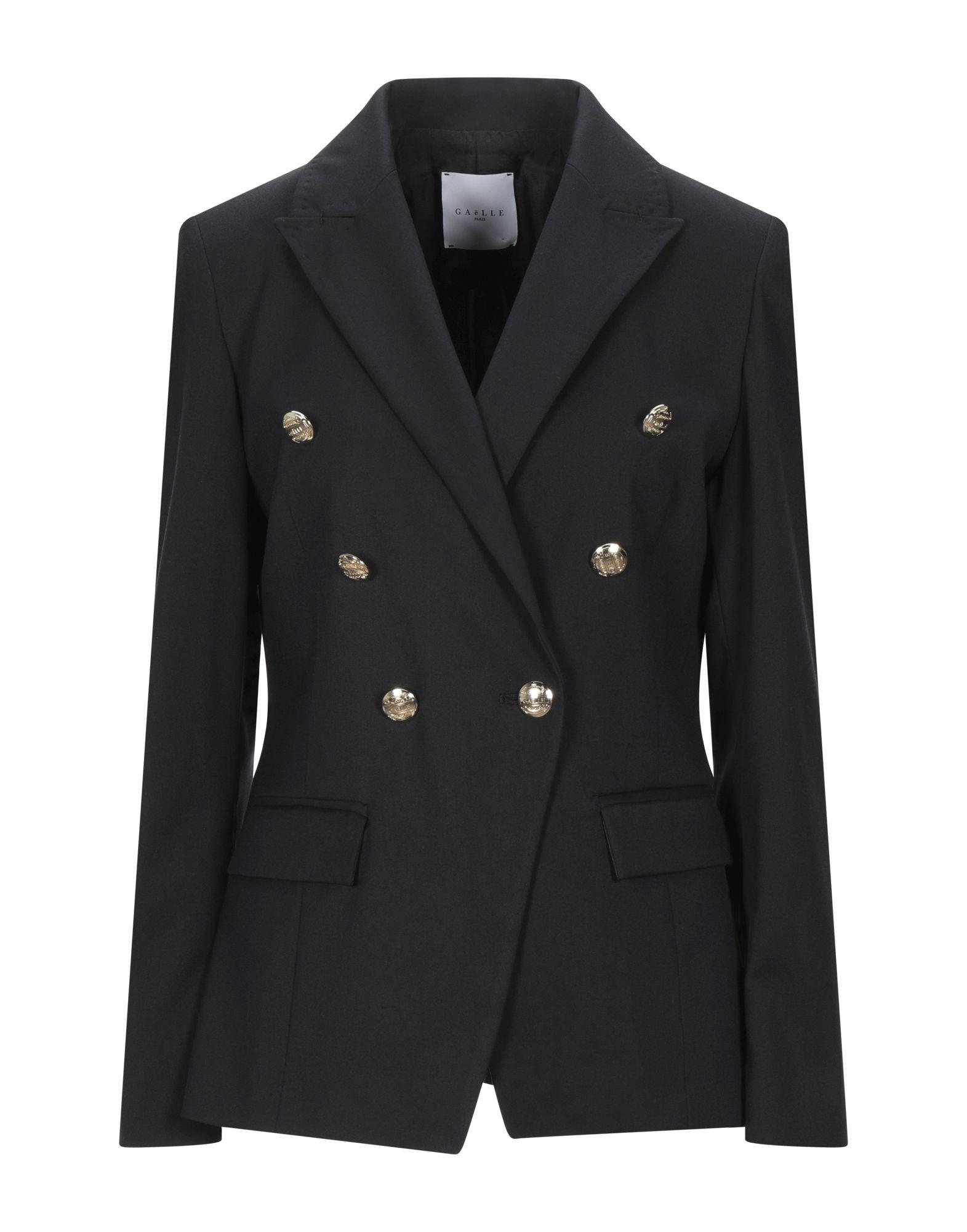 《セール開催中》GA?LLE Paris レディース テーラードジャケット ブラック 40 ポリエステル 62% / レーヨン 34% / ポリウレタン 4%