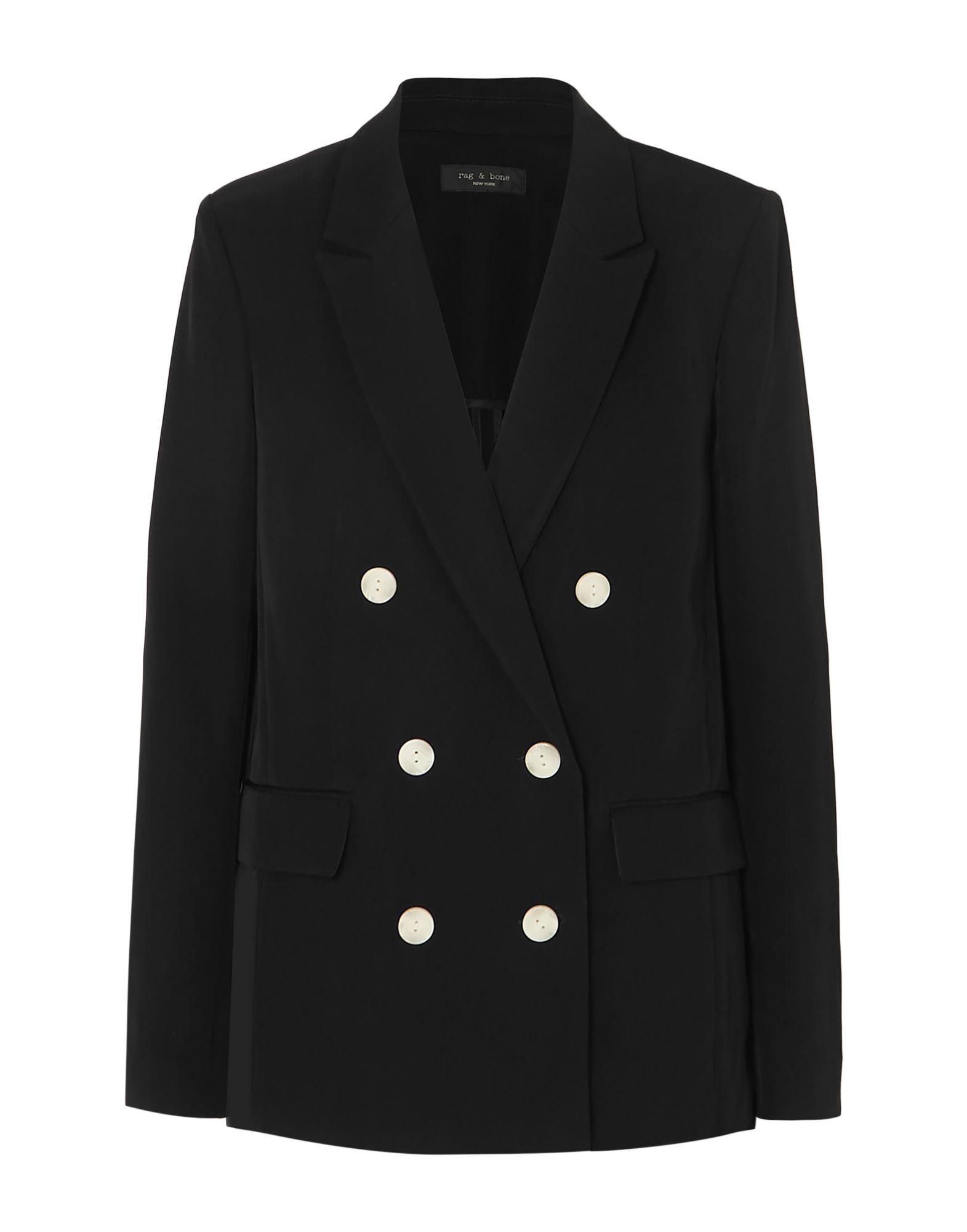《セール開催中》RAG &BONE レディース テーラードジャケット ブラック 10 シルク 100%