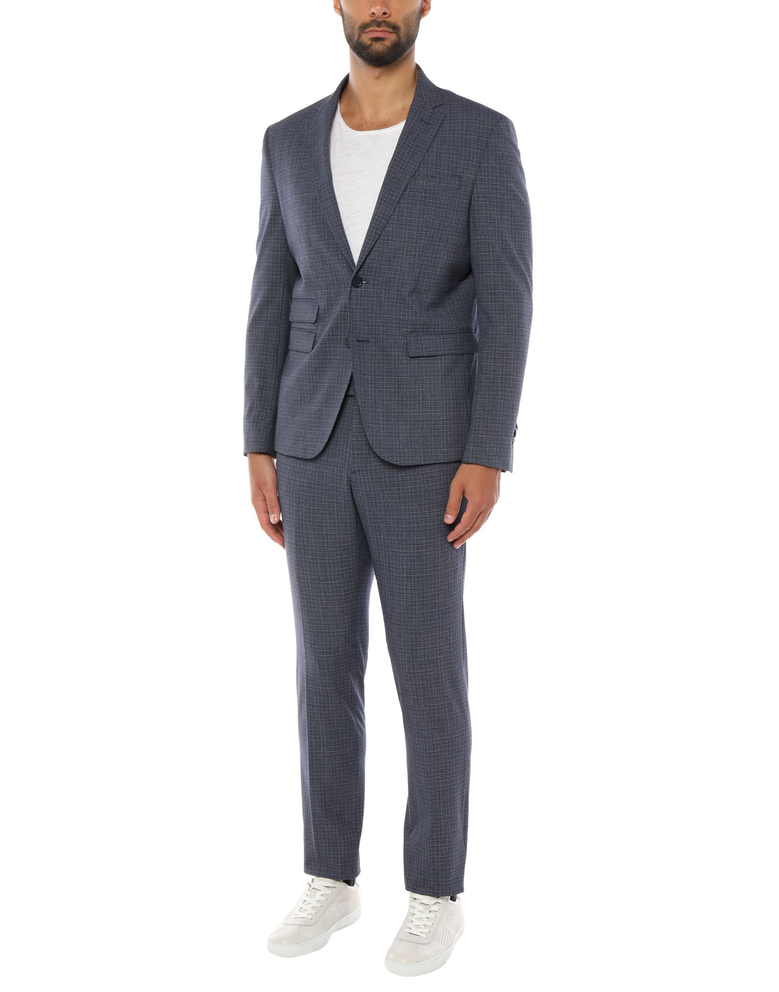 《セール開催中》DOMENICO TAGLIENTE メンズ スーツ ブルー 44 ポリエステル 63% / レーヨン 33% / ポリウレタン 4%